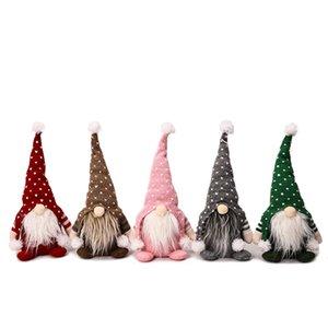 Navidad sin rostro GNOME Santa Doll Decoration Hecho a mano Sueco Tomte Them Table Adorno Regalos de año nuevo de Navidad JK2010XB