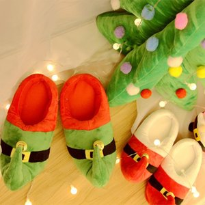 2020 Woman Shoes Creative cartoon cute parent-child couple Christmas plush slippers holiday gifts Christmas family slippers J1205
