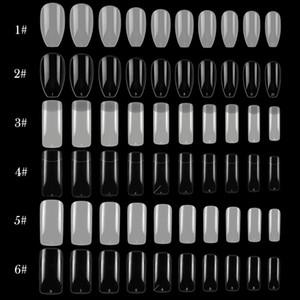 100 500 pcs False Nail Tips Fake Nails Acrylic Nail Extension Full Half French Cover Tips Coffin UV Gel Manicure Fake Nail Tips