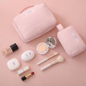Beautician Cosmetic Bag Travel Make Up Bag Quick Makeup Bag Toiletry Organizer Pink Makeup Pouch Purse Waterproof Handbag