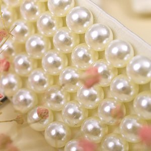 Numéros de couettes Femmes Perles Perles Faux Perles Couleurs Bibeveau Vapel Fake Collier Collier Couker J78F
