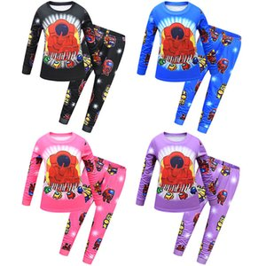 Among Us Game Pajamas Sets Children Kids Cartoon Anime Two Piece Clothing Homewear Juniors Boys Sleep Nightwear Long Sleeve Outfits CZ122102
