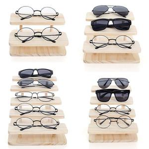 Rasalhuer montável óculos de sol de bambu óculos de suporte de exposição de jóias relógios de pulseira Mostrar produto 1-5Layers opções