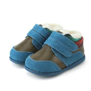 Tipsietoes Invierno Zapatos para niños Leather Martin Kids Snow Cowboy Boots Boys Moda Sneakers Bota Botines Infantil Y1116