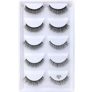 Wholesale 5 Pairs Natural 3D Mink Hair False Eye Lashes Wispy Makeup False Eyelashes Eye Makeup Beauty Extension maquiagem