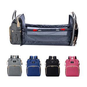 Mummy bag Diaper Bag Bed Backpack Baby Care Large Capacity Stroller Mom Backpack Maternity Bag Multi-Function Waterproof Outdoor