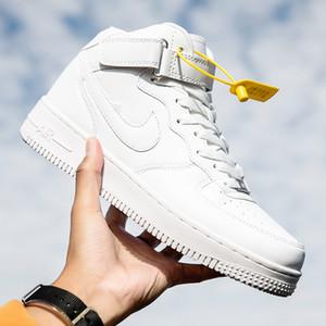 Autumn men's small men and women love 1 women's white high top board shoes Putian