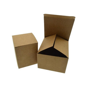 50pcs 100pcs Kraft Paper cardboard Box for Jewelry gift Candy packaging carton Box gift soap Package Packing paper white