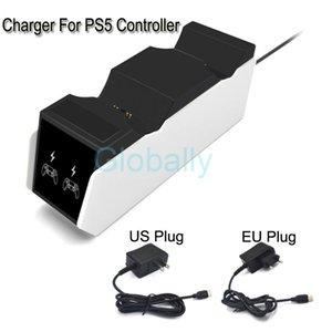 شاحن ل PS5 تحكم اللاسلكية المزدوجة الشحن لسوني بلاي ستيشن تحكم الولايات المتحدة الاتحاد الأوروبي التوصيل مع مؤشر LED شحن سريع قفص الاتهام