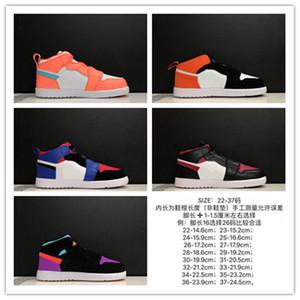 Baby J1 Sneaker Sport Rose Rose Haute Band Elastic Panier Noir Basket Sneaker Taille 22-37 Garçons Filles Casual Chaussures de marche