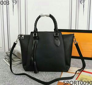 Original 2020 Neue Frau Hohe Qualität Leder gewebt Griff Handtasche mit Pinlochmuster perforiert Einfuhr Umhängetaschen Großraum Shopping