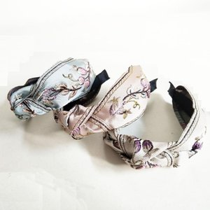 Embroidered Flower Knot Hairbands For Women Hair Accessories For Girls Hair Band Crown Flower Headbands Women