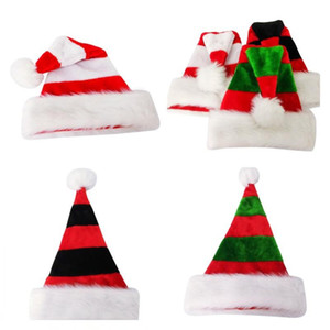 3 Styles Striped Christmas Hats Merry Christmas Caps Hat For Adult And Kids XMAS Decoration New Year's Gifts Home Party Supplies