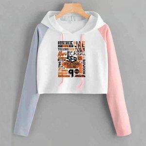 KPOP SF9 Hoodie Crop Top Femmes Impression Trui Lent Herfst Perte Pink Annexes Annexes Sweats Sweatshirts Drop Winkelen