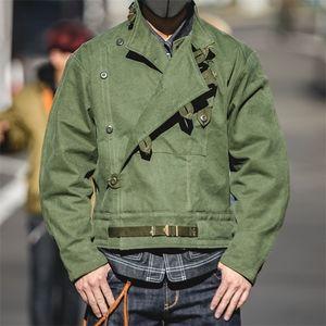 Maden Army Green Giacca retrò Montatura Bontaia Fibbia Obliqua Giacca da uomo svedese Giacca da uomo Amekaji Cotton Water Water Giacker Uomo LJ201215
