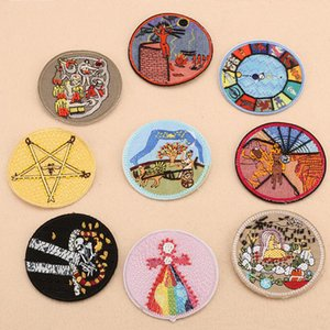 Hand Made Pin-on Round Patches Badges Sewing For Cloth Beading Applique Clothes Shoes Bags coat Patch