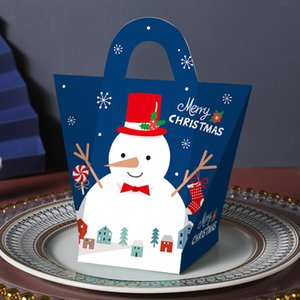 Santa Claus Merry Christmas Candy Gift Boxes Guests Packaging Boxes Gift Bag Christmas Party Favors Kids Gift Decor PPD3344