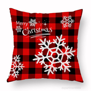 Xmas Pillow Case Plaid Merry Covers Christmas Tree Deer Truck Cushion Home Party Decorative 16 styles OWA2274