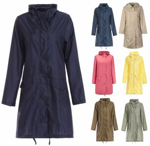 Largo impermeable mujeres hombres impermeable capucha capa lluvia ponchos chaqueta capa hembra chubasqueros impermeables mujer j1211