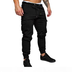 LASPERAL Solid Plus Size Men's Long Pant Cargo Pants Casual Mens Summer Pants New Sweatpants Male Joggers