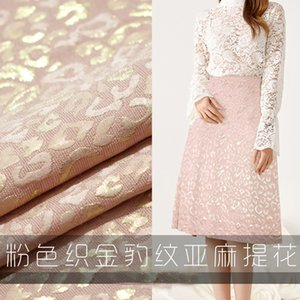 Pink Leopard cloth, used for shirt, sewing skirt, table, back cloth, interior decoration, cloth