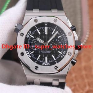 Montre de Luxe ZF 26703 42mm 3124 Cronógrafo Movimento 316L Caixa de aço Super luminosa redução perfeita mens relógio impermeável