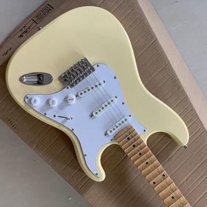 Frete Grátis Venda quente de boa qualidade Yngwie malmsteen guitarra elétrica scalloped fingerboard bocas basswood corpo tamanho padrão guitarra guitar