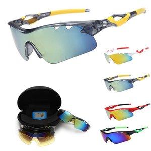 Polarisierte Sportsonnenbrille Straße Radfahren Gläser Bergfahrrad Reiten Schutzbrille Eyewear 5 Linse 9 Stück im Set