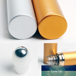 1Pc Small Delicate 8ml Refillable Simple Roller Ball Perfume Bottle Portable Shell Oil Glass Fragrance Pot Cosmetic Makeup Tools
