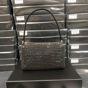 WANG High Quality hobo Designer hobo tote Women crystal diamond Handbags Famous Chain Shoulder Bags Crossbody Soho Bag Disco Bag fine