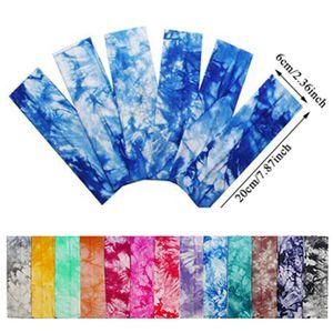 Tie Dye Cycling Yoga Sweat Sweat Diadema Hombres Sweatband para hombres Mujeres Yoga Bandas de pelo Cabeza Sudor Bandas Deportes Accesorios para el cabello Q Jllkpn