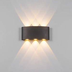 Led wall light ip65 outdoor waterproof garden aluminum fence indoor fashion wall lamp for bedroom headboard living room stairs