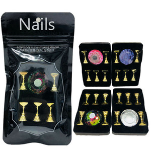 Magnetic Showing Shelf Acrylic Crystal Display Stand False Nail Art Tips Practice Training Holder Manicure Salon Tool