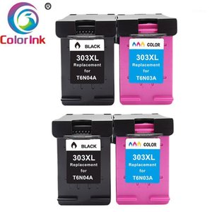 ColoInk 303XL Refilled Ink Cartridge Replacement For 303 XL for ENVY PHOTO 6020 6030 7130 7134 7830 printer1