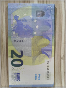Prop Euro Currency Realistic 2021 Props Banknote Bar Toy Hot Faux Billet 20 Ticket Gift Children Copy LE20-33 Dagnp Uicvo