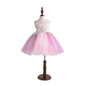 9069TUTU Bordado Princesa Baby Girl Vestido 2020 Primavera Fiesta Boda Día de Pascua Día de Pascua para niña Venta al por mayor Ropa infantil1