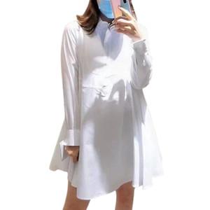 2020 Women Dress Women Autumn Dress A-Line Long Sleeve Solid White Mini Sexy Party Dress Vestidos De Fiesta De Noche 1119