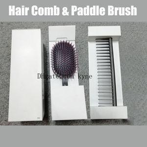 Dropship Nova Liberação Cabelo Escovas Estilo Definir marca Projetado Detangling pente de cabelo e pincel Rápido frete grátis