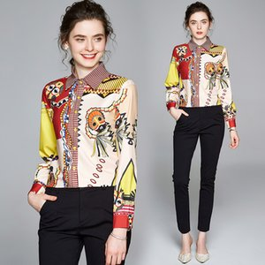 Temperament Shirt Long Seeve Women Tops Spring Autumn Printed Business Shirt Fashion Elegant Lady Blouse