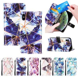 Caso para iphone 12 pro máximo 11 xs x 8 7 6s carteira de couro de mármore capa de telefone