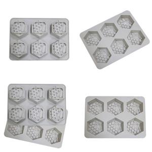 Moule en silicone Nest de miel 6 grille Silica Gel Savon Moulin Miroir Safe De Miroir Colle Grey Moules Factory Vente directe 10ZC P1