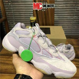 Top Quality 2020 New Stone Soft Vision Kanye West Desert RAT 500 Donne da uomo Scarpe da corsa da uomo Osso bianco Blush Sneakers Sport con scatola