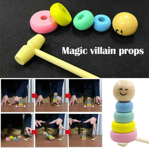 1 Set New Funny Wood Toys for Children Kids Immortal Daruma Unbreakable Magic Tricks Close Up Stage Magic Props Educational Toys