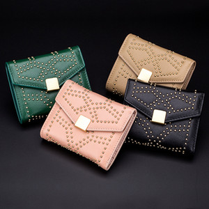 2020 new leather Liuding wallet short fashion lady's small wallet short live net red 30% discount Wallet