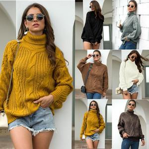 Vêtements d'hiver de plus pour femmes Turtleneck Pull tricoté Chute 2020 Fashion Femme Sweaters Automne Pulls Tops coréens