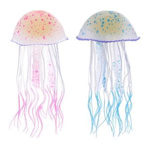2020 Silicone Artificial Jellyfish Glow In The Dark Swim Fish Tank Aquarium Decoration Accessorie