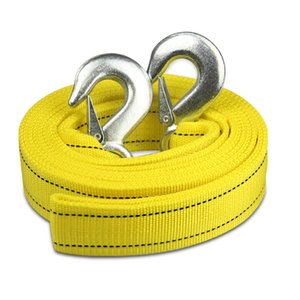 4m 5 Tons Towing Rope Car Accessories Strap Recycle with Hooks High Strength Emergency with Gloves for Heavy Duty