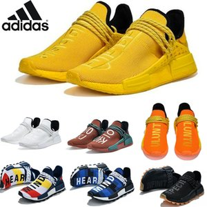2021 HU Pharrell NMD Mens Human Race BBC red Bold Orange Casual Shoes Williams Solar Pack sun calm Inspiration Solar sports runner 36-47