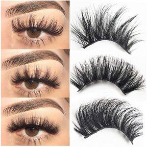 2pairs 25mm 3D Mink Lashes Natural False Eyelashes Dramatic Volume Fake Lashes Makeup Eyelash Thick Extension Silk Eyelashes