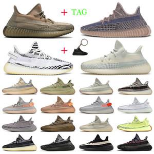adidas yeezy boost 350 v2 yezzy 350 Kanye West mujeres de los hombres zapatos para correr Asriel Bred estático reflectante lino mens entrenadores deportivos zapatillas de deporte